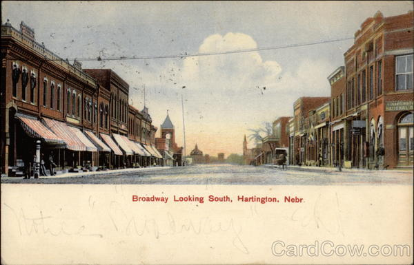 Broadway Looking South Hartington Nebraska