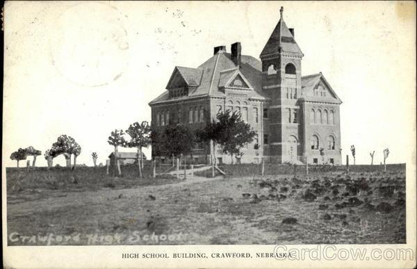 High School Building Crawford Nebraska