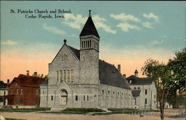 St. Patricks Church and School Cedar Rapids Iowa