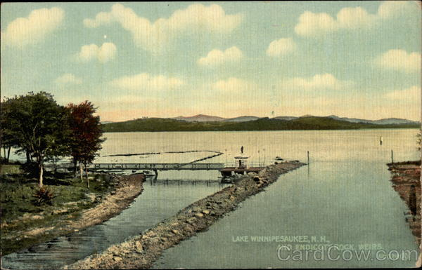 Lake Winnipesaukee and Endicott Rock Weirs New Hampshire
