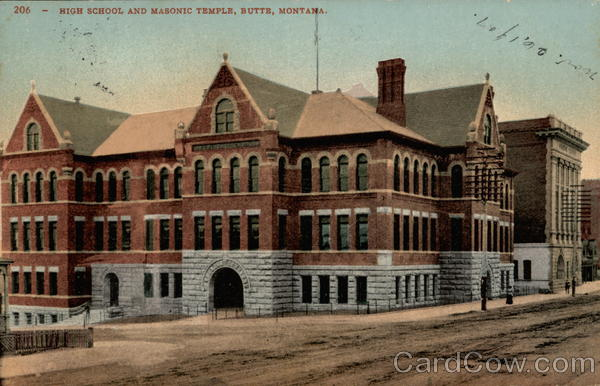 High School and Masonic Temple, Butte, Montana