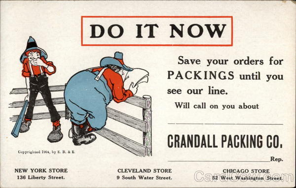 Crandall Packing Co Advertising