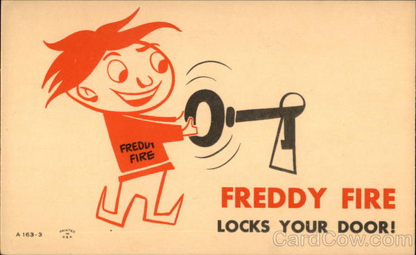 Freddy Fire Locks Your Door! Advertising