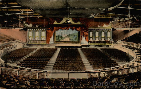 Interior of Convention Hall Kansas City Missouri