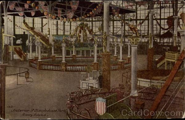 interior of steeplechase park  coney island new york  ny