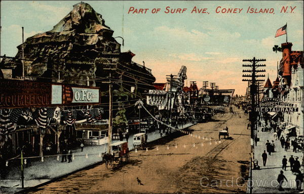 Part of Surf Ave Coney Island New York