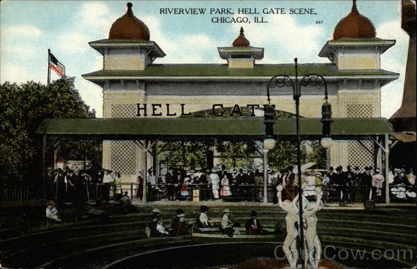 Riverview Park, Hell Gate Scene Chicago Illinois