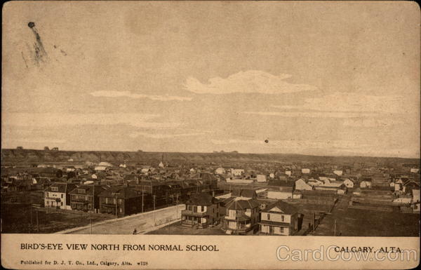 Bird's-Eye View North from Normal School Calgary Canada