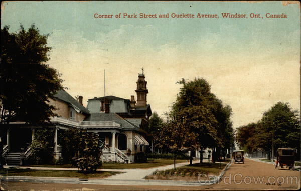 Corner of Park Street and Ouelette Avenue Windsor Canada