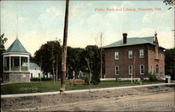 Public Park and Library, Napanee, Ont Canada Ontario