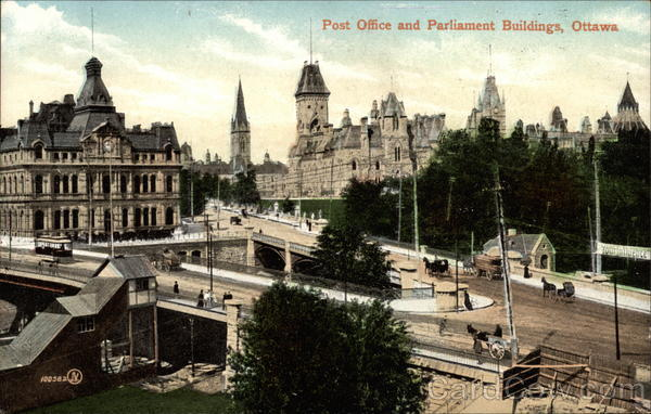 Post Office and Parliament Buildings, Ottawa Canada