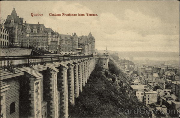Chateau Frontenac From Terrace Canada Quebec