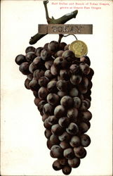 Half Dollar and Bunch of Tokay Grapes
