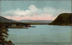 Iona Island and Anthony's Nose from Round Island on the Hudson River Postcard