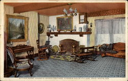 Sitting room, Crane's Canary Cottage, Route 422 Postcard