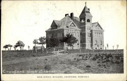 High School Building Postcard