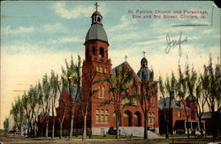St. Patrick Church and Parsonage, Elm and 3rd Street