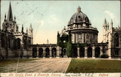 All Soul's Quad and Radcliffe Library Postcard