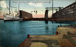 Harbor and Dry Dock Postcard