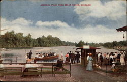 Jackson Park from Boat House Postcard