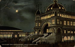 Pavilion and Hippodrome by night