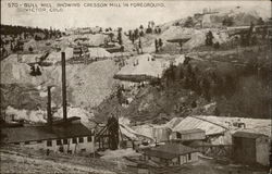 570- Bull Hill, Showing Cresson Mill in Foreground. Victor, COLO