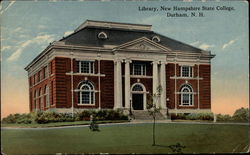 Library, New Hampshire State College Postcard