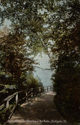 Approach to Lake Champlain at Red Rocks Postcard