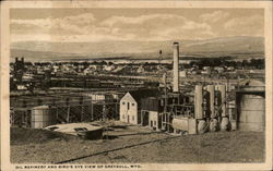 Oil Refinery and Bird's Eye View of Greybull, Wyo