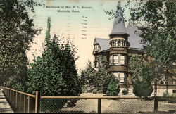 Residence of Mrs. E.L. Bonner