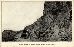 A Bad Piece of Road Postcard