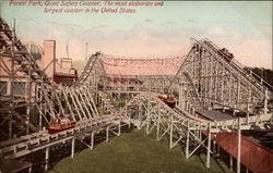 Forest Park, Giant Safety Coaster Postcard