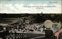 Scene from Shoot the Chutes, Riverview Park Postcard