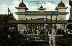 Riverview Park, Hell Gate Scene Postcard