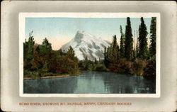 Echo River, showing Mt. Rundle