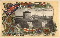 Fort Frederick plus National & Provincial Flags