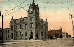 Post Office, Woodstock, Ont Postcard