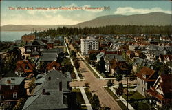 The West End Looking Down Comox Street