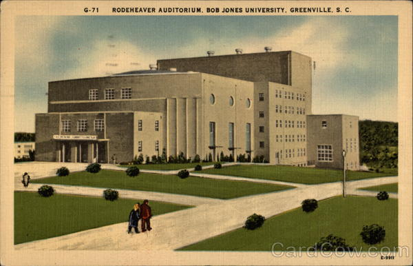 Rodeheaver Auditorium, Bob Jones University Greenville South Carolina