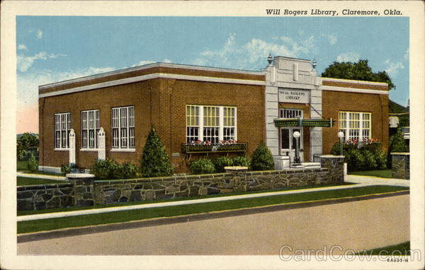 Will Rogers Library Claremore Oklahoma