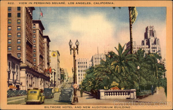 View In Pershing Square Los Angeles California