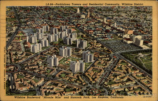 Parklabrea Towers and Residential Community - Whilshre District Los Angeles California