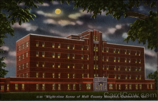 Night-time Scene of Hall County Hospital Gainesville Georgia