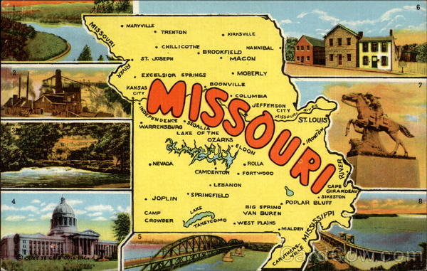 Points of Interest in Missouri Maps
