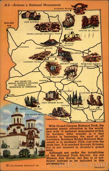 Arizona S National Monuments Maps