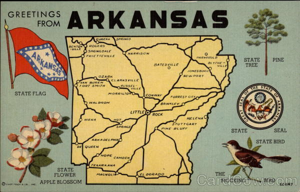 Greetings from Arkansas Maps