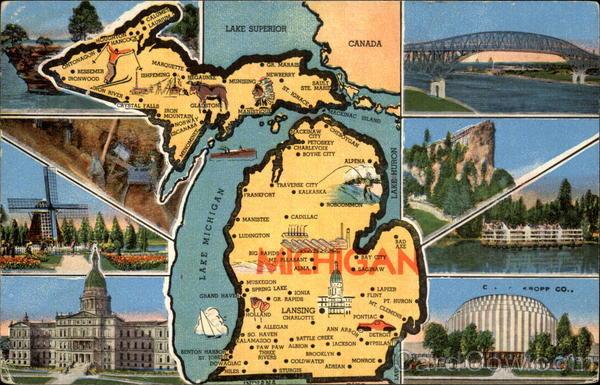 Scenic Views of Michigan Maps