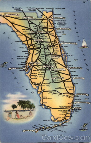 A view of the major highways in Florida Maps