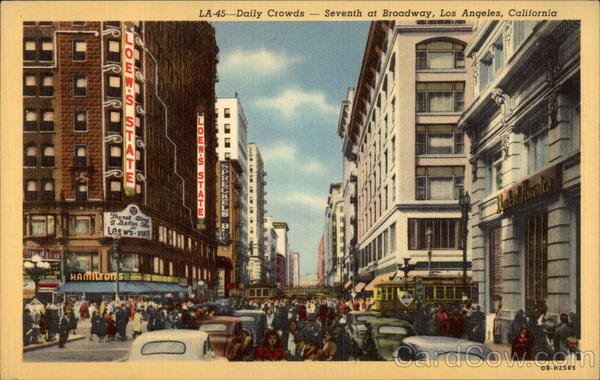Daily Crowds - Seventh at Broadway Los Angeles California