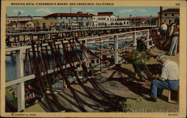 Mending Nets, Fisherman's Wharf San Francisco California